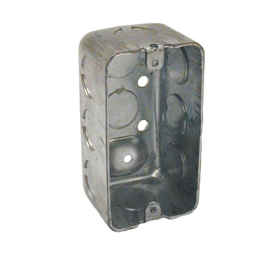 Raco 1-Gang Gray Metal Interior New Work/Old Work Standard Handy Celing/Wall Electrical Box