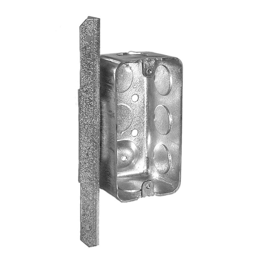 Raco 1-Gang Gray Metal Interior New Work/Old Work Standard Handy Wall Electrical Box