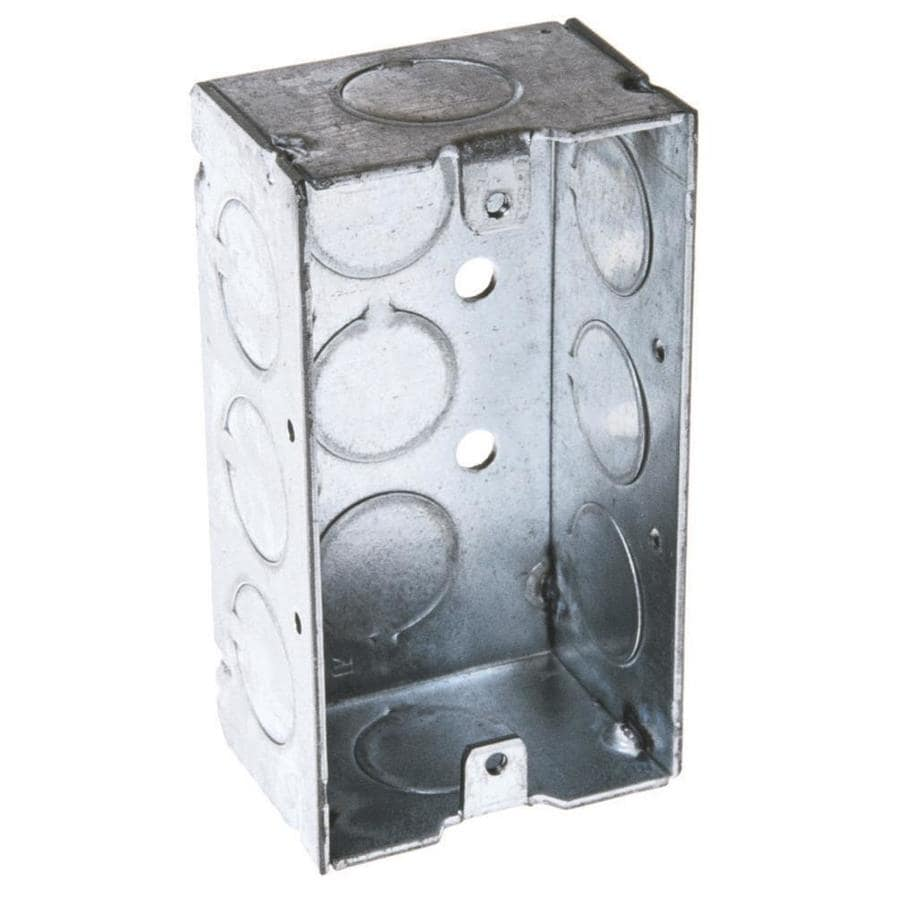 Raco 1-Gang Gray Metal Interior New Work Standard Handy Celing/Wall Electrical Box