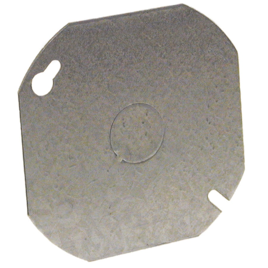 Raco 1-Gang Round Metal Electrical Box Cover
