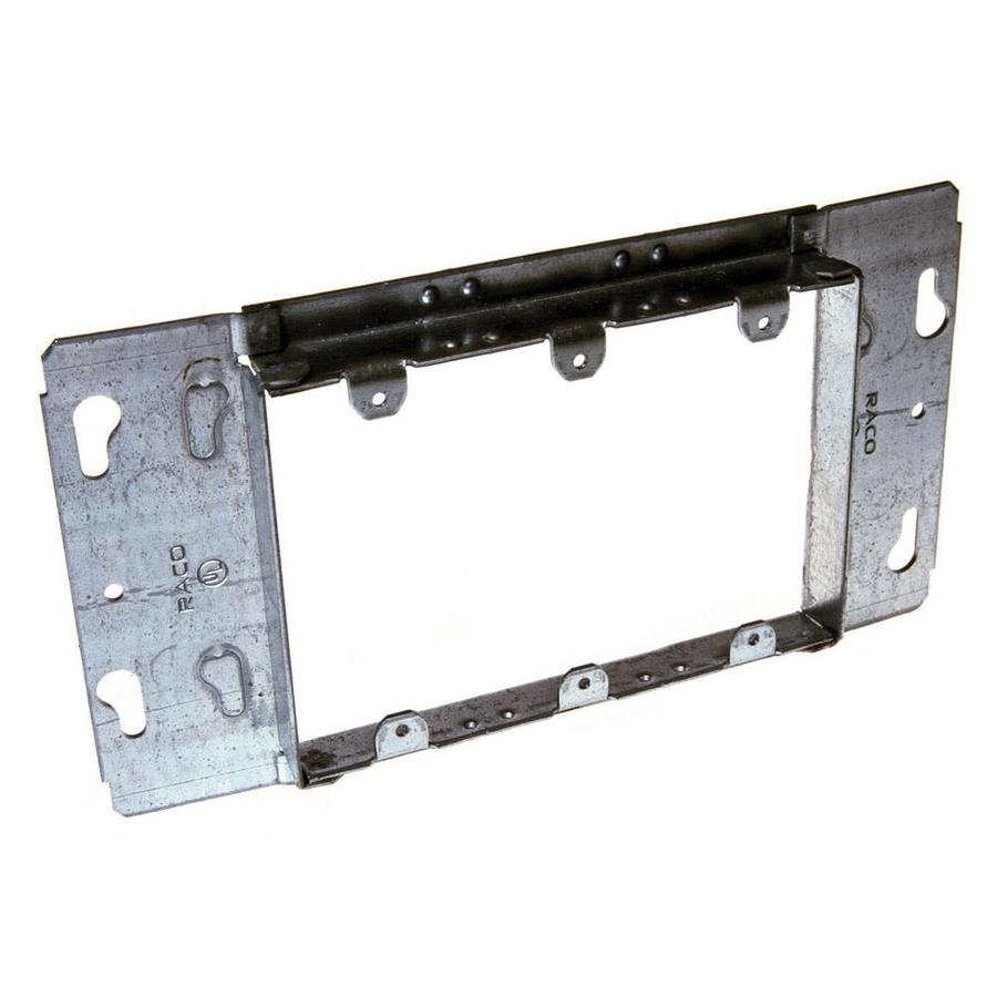 Raco 3-Gang Rectangle Metal Electrical Box Cover