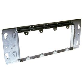 RACO 4 Gang Silver Steel Interior New Work Old Rectangular Wall Electrical Box