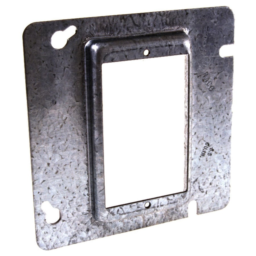 Raco 1 Gang Square Metal Electrical Box Cover At Lowes Com