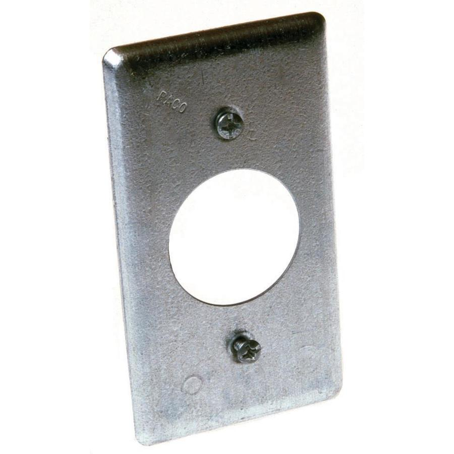 Raco 1-Gang Rectangle Metal Electrical Box Cover