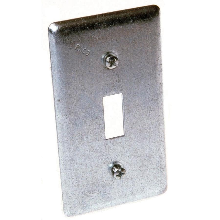 Shop Raco 1 Gang Rectangle Metal Electrical Box Cover At