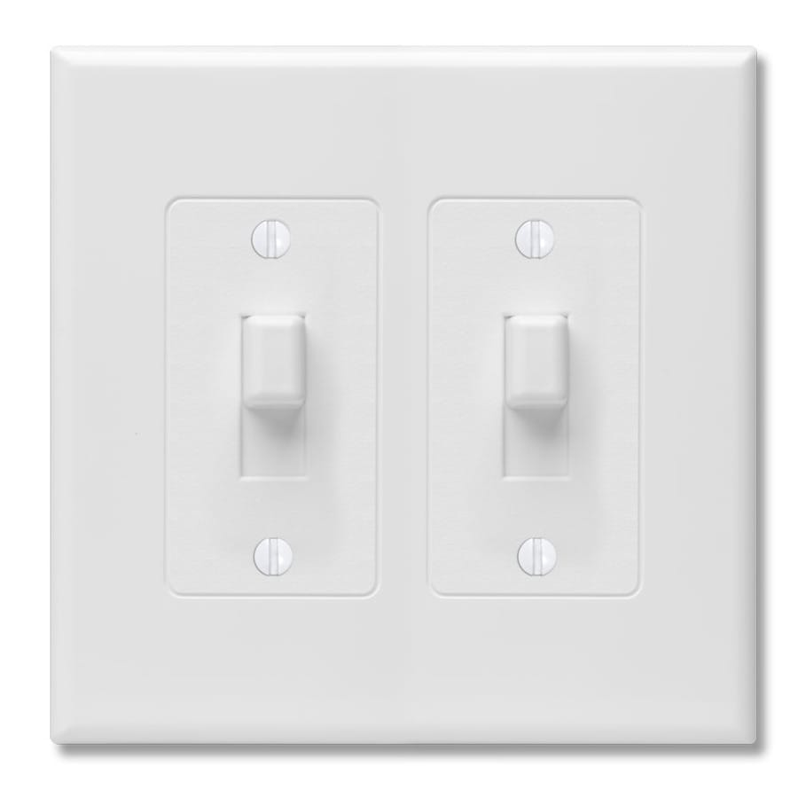 Hubbell TayMac Revive 2-Gang White Double Toggle Wall Plate