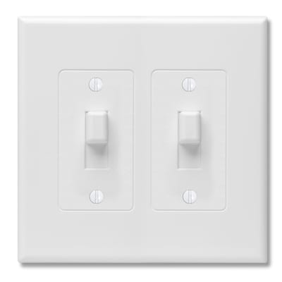 Revive 2 Gang White Double Midsize Wall Plate
