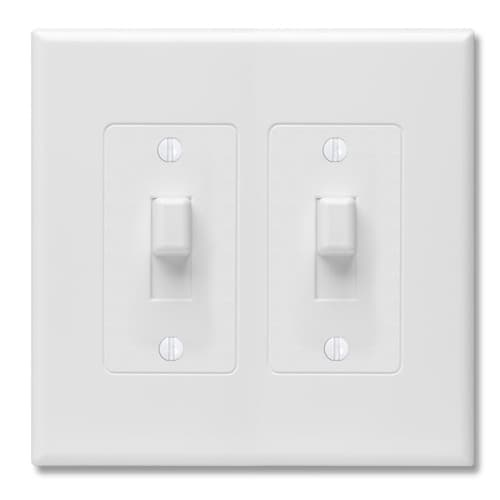 Taymac Revive 2 Gang White Double Toggle Midsize Wall Plate In The Wall Plates Department At Lowes Com