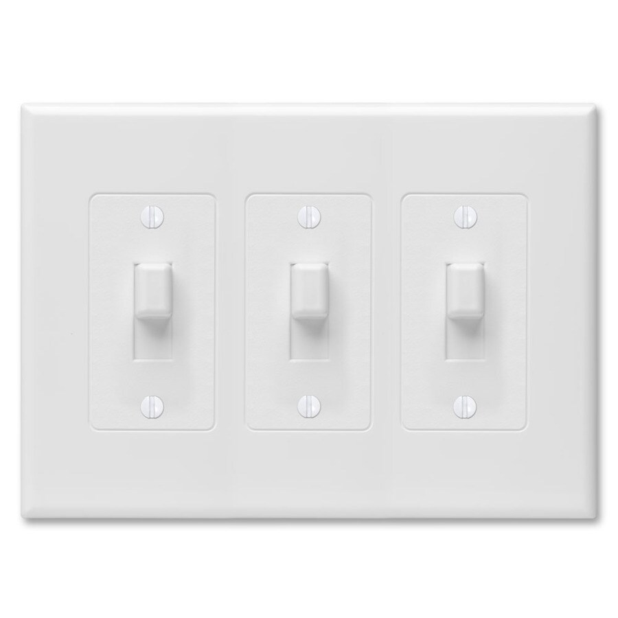 Hubbell TayMac Revive 3-Gang White Triple Toggle Wall Plate