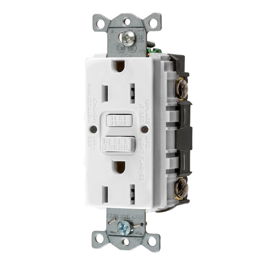 Electrical Outlets At Outlet Locations Where Should Receptacles Be Hubbell White 15 Amp Decorator Gfci Protection Residential Commercial