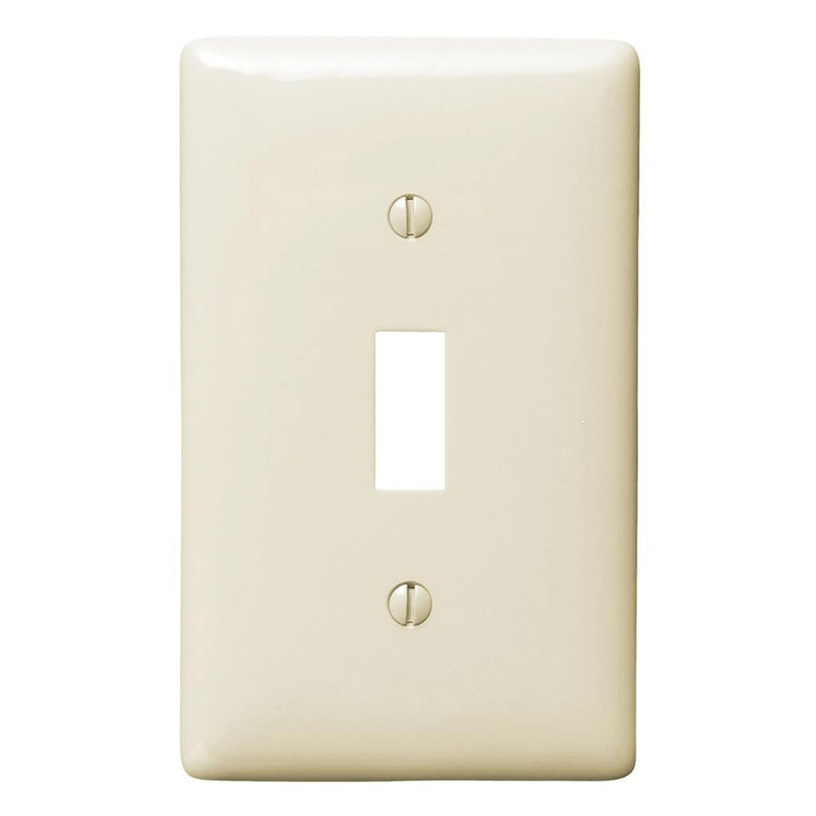 Wall Pack Lights Lowes : Shop Hubbell 10-Pack 1-Gang Light Almond Single Toggle Wall Plates at Lowes.com