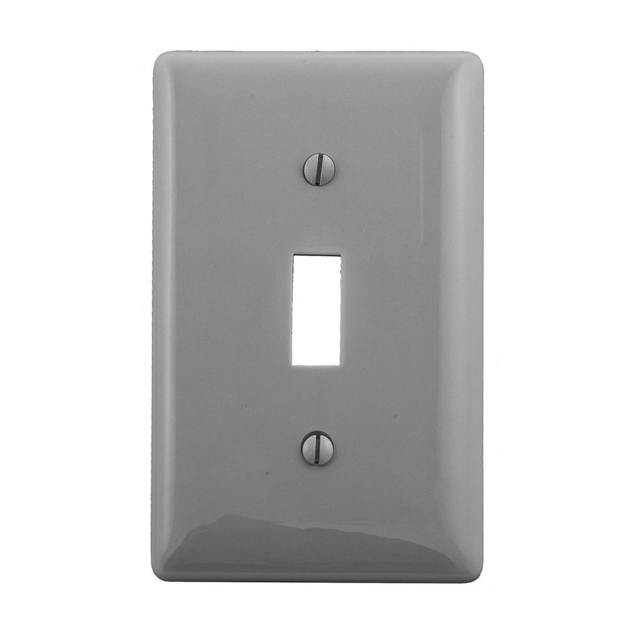 Hubbell 1-Gang Gray Single Toggle Wall Plate
