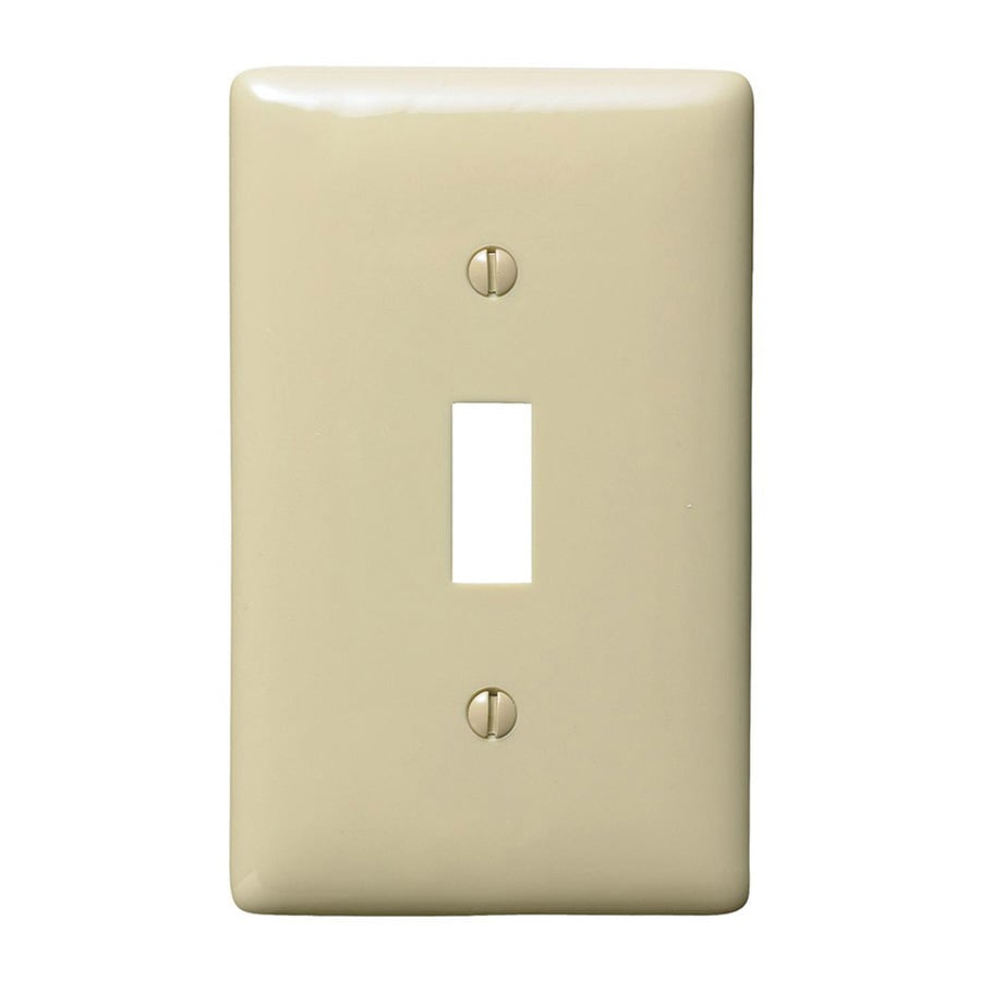 Hubbell 1-Gang Ivory Single Toggle Wall Plate