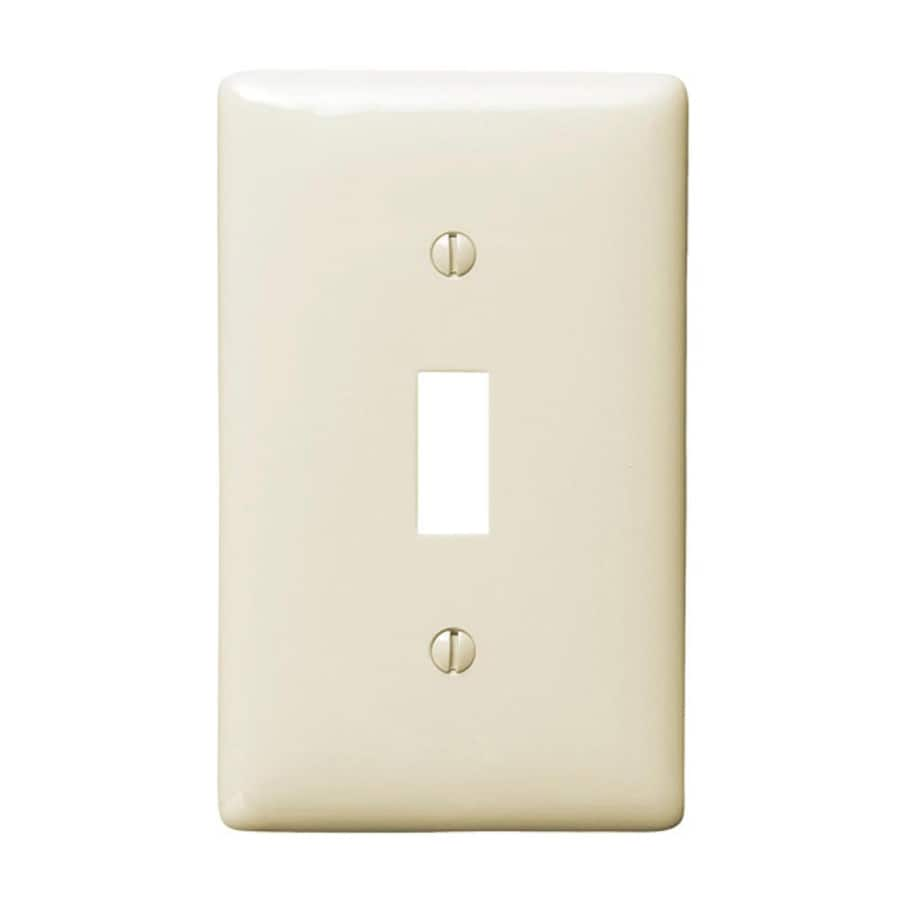 Hubbell 10-Pack 1-Gang Light Almond Single Toggle Wall Plates
