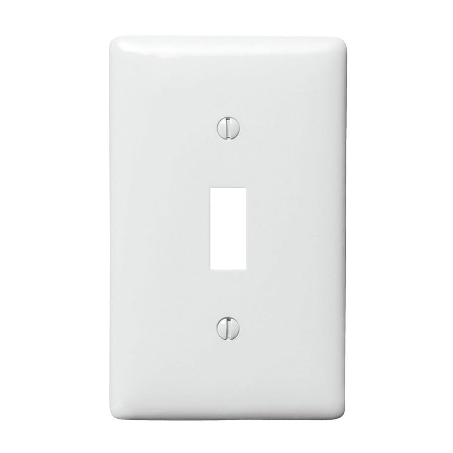 Hubbell 10-Pack 1-Gang White Single Toggle Wall Plates