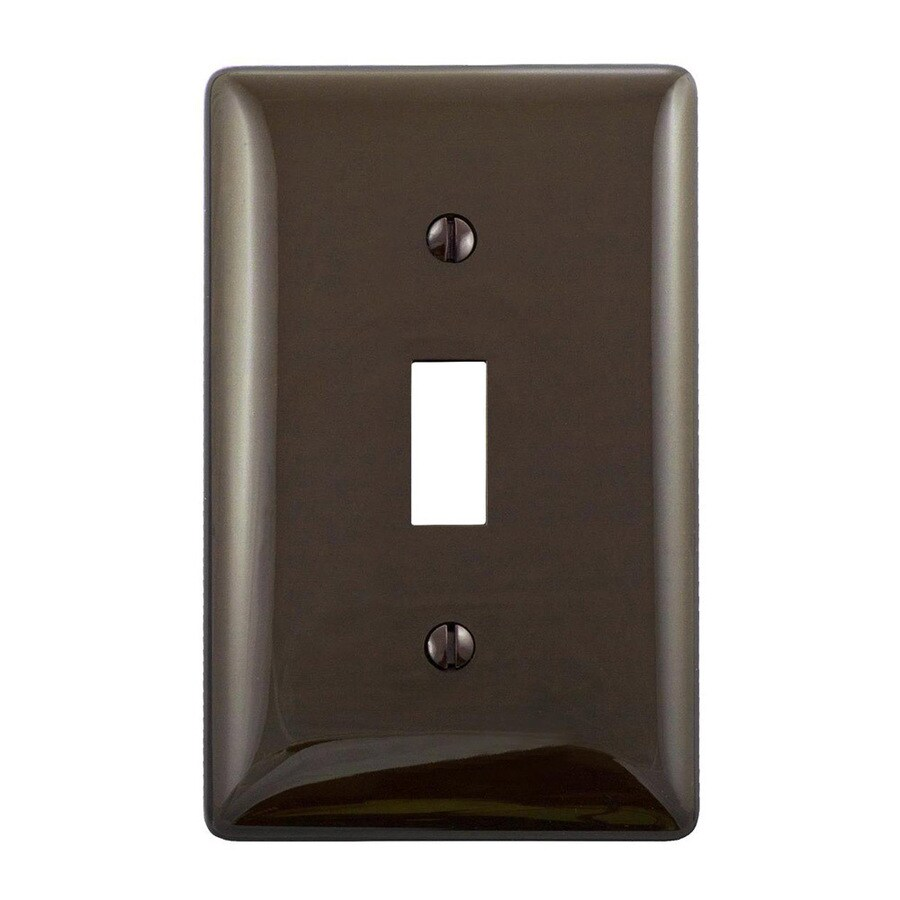 Hubbell 1-Gang Brown Single Toggle Wall Plate