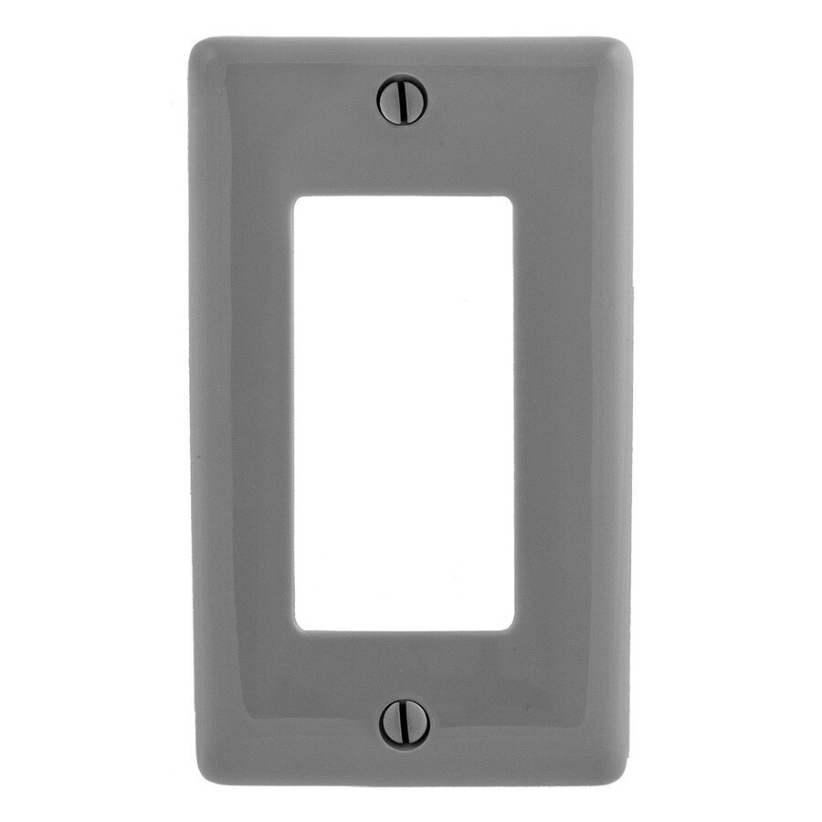 Hubbell 1-Gang Gray Single Decorator Wall Plate