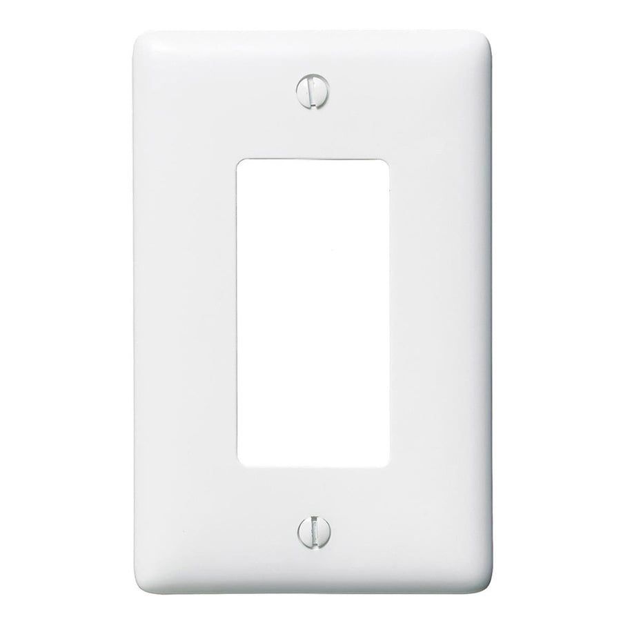 Hubbell 10-Pack 1-Gang White Single Decorator Wall Plates