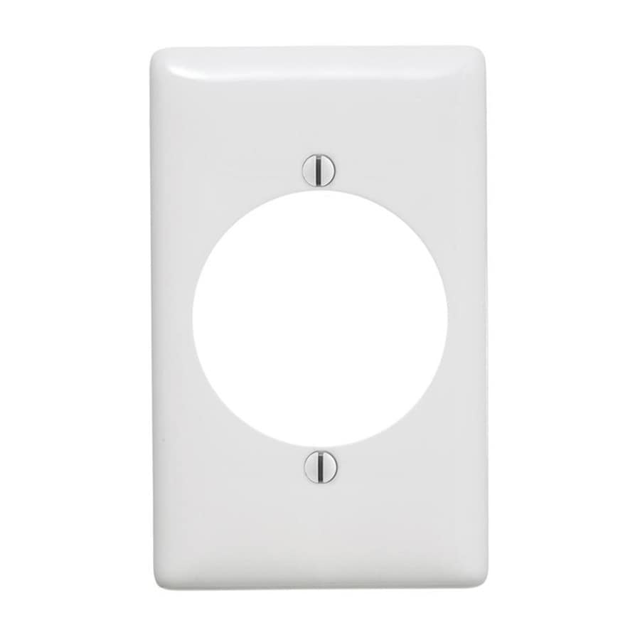 Hubbell 1-Gang White Single Round Wall Plate