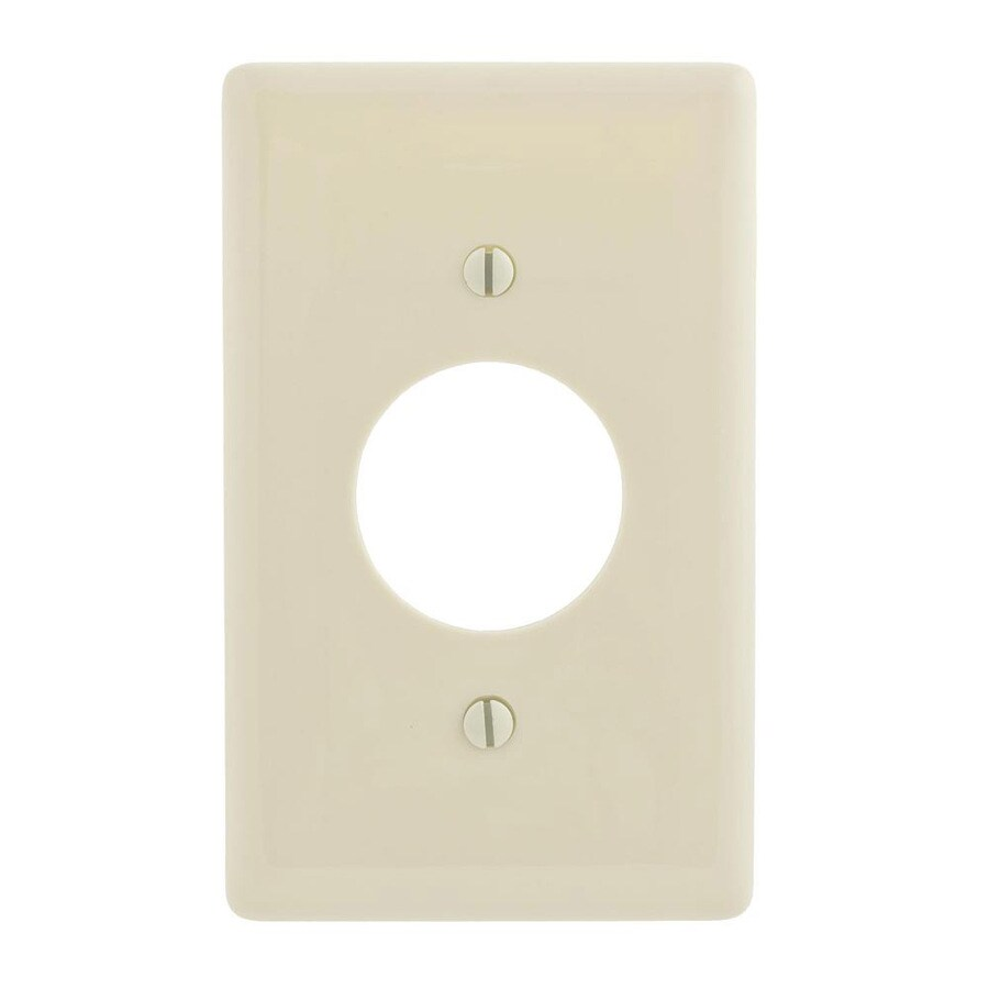 Hubbell 1-Gang Light Almond Single Round Wall Plate