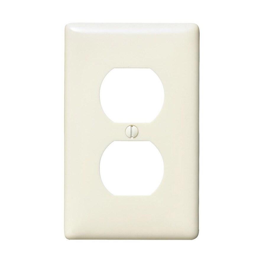 Hubbell 10-Pack 1-Gang Light Almond Single Duplex Wall Plates