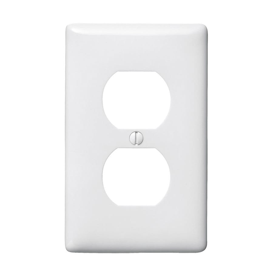 Hubbell 1-Gang White Single Duplex Wall Plate