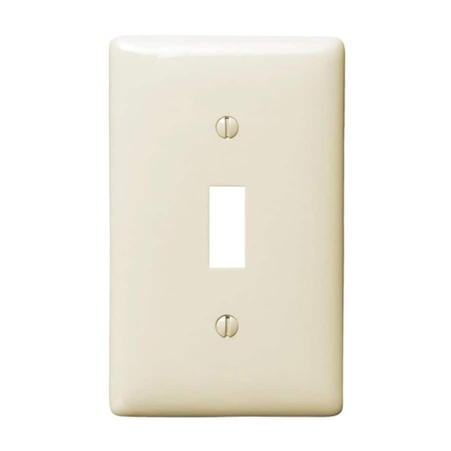 Hubbell 1-Gang Light Almond Single Toggle Wall Plate