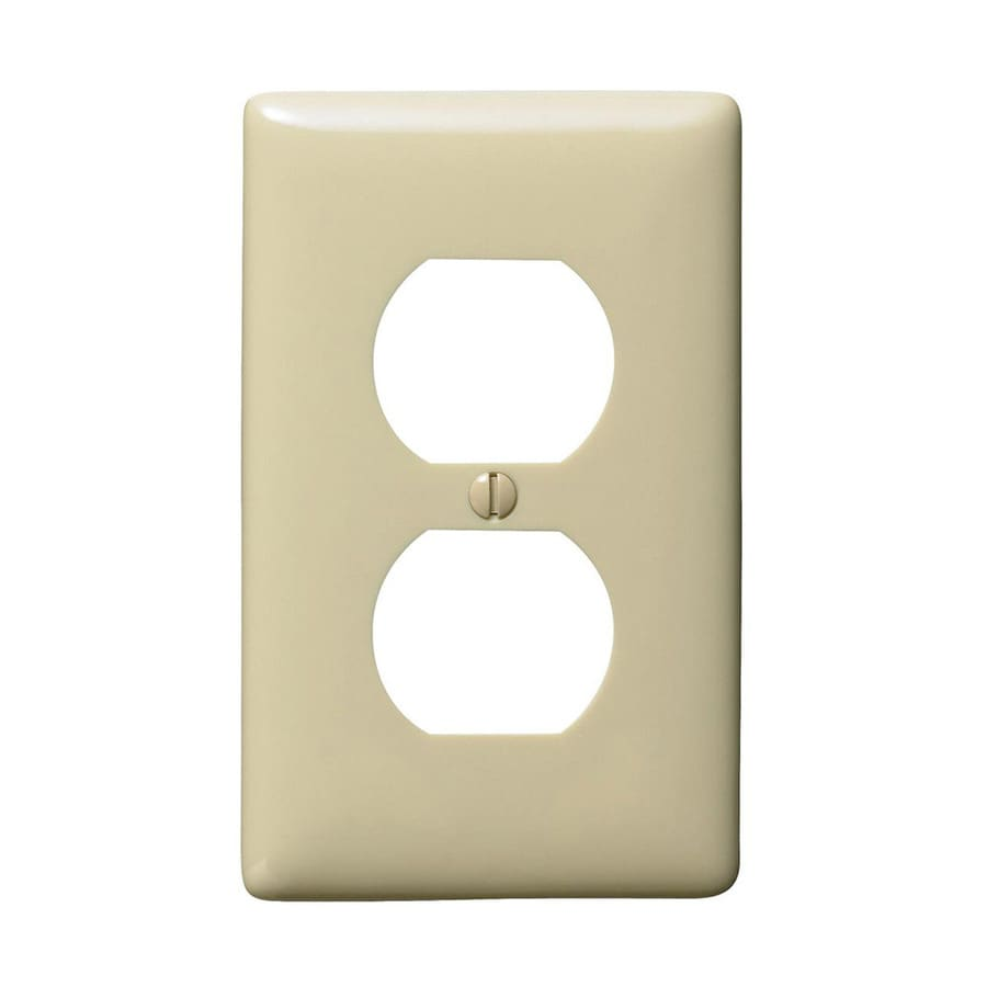 Hubbell 1-Gang Ivory Single Duplex Wall Plate