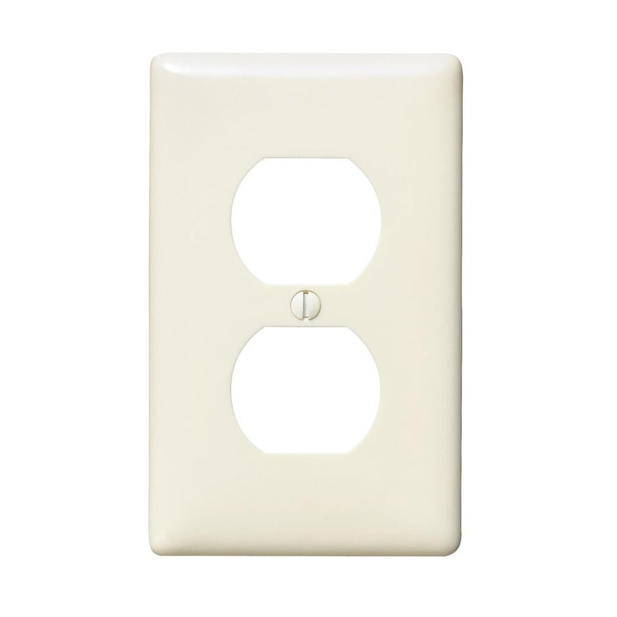 Hubbell 1-Gang Light Almond Single Duplex Wall Plate