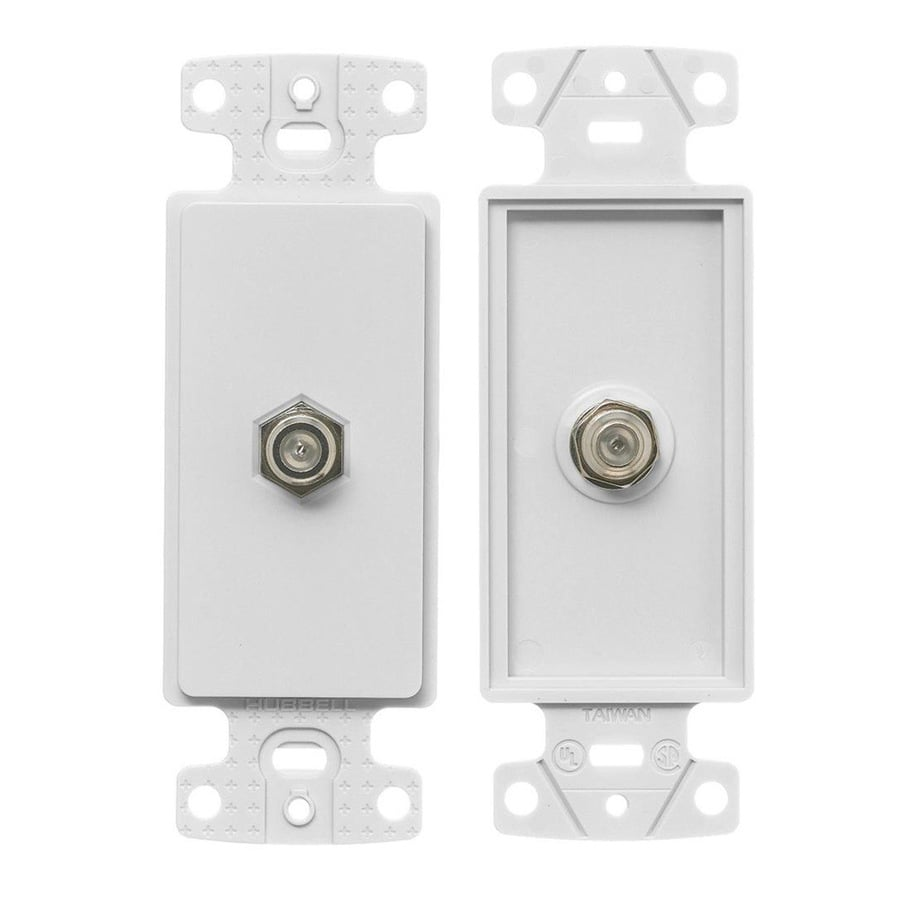 Hubbell 1-Gang White Single Decorator Coaxial Wall Plate Insert