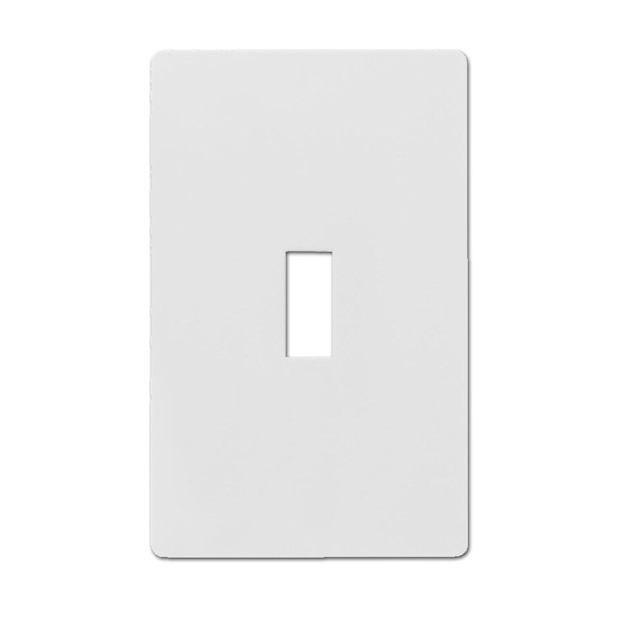 Hubbell 1-Gang White Single Toggle Wall Plate