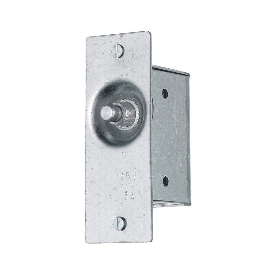 Hubbell 3-Amp Single Pole Silver Push Indoor Door Light Switch
