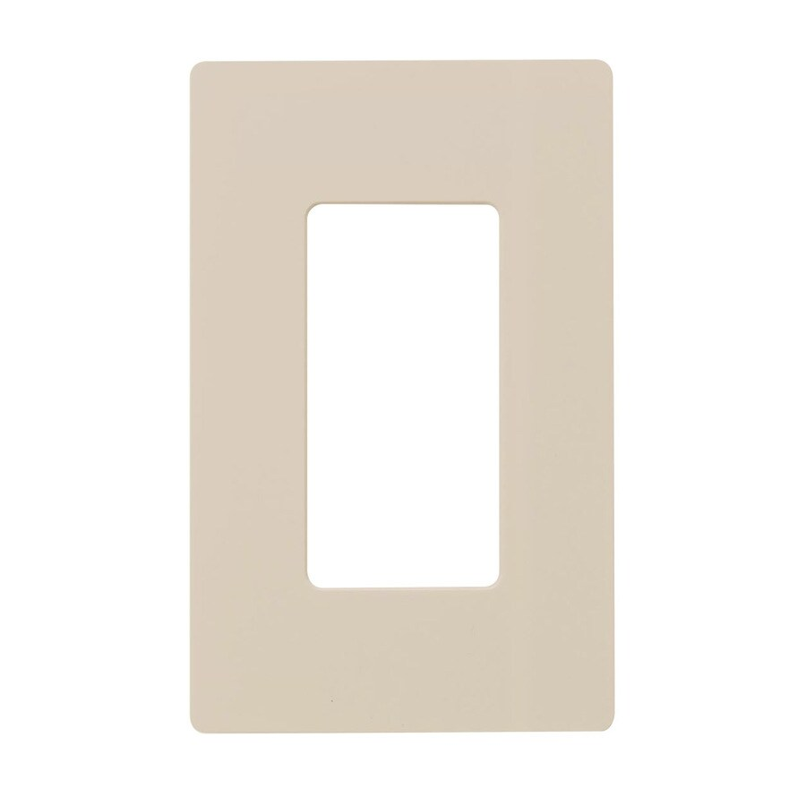 Hubbell 1-Gang Light Almond Single Decorator Wall Plate