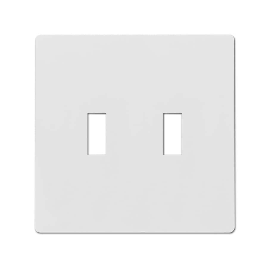 Hubbell 2-Gang White Double Toggle Wall Plate