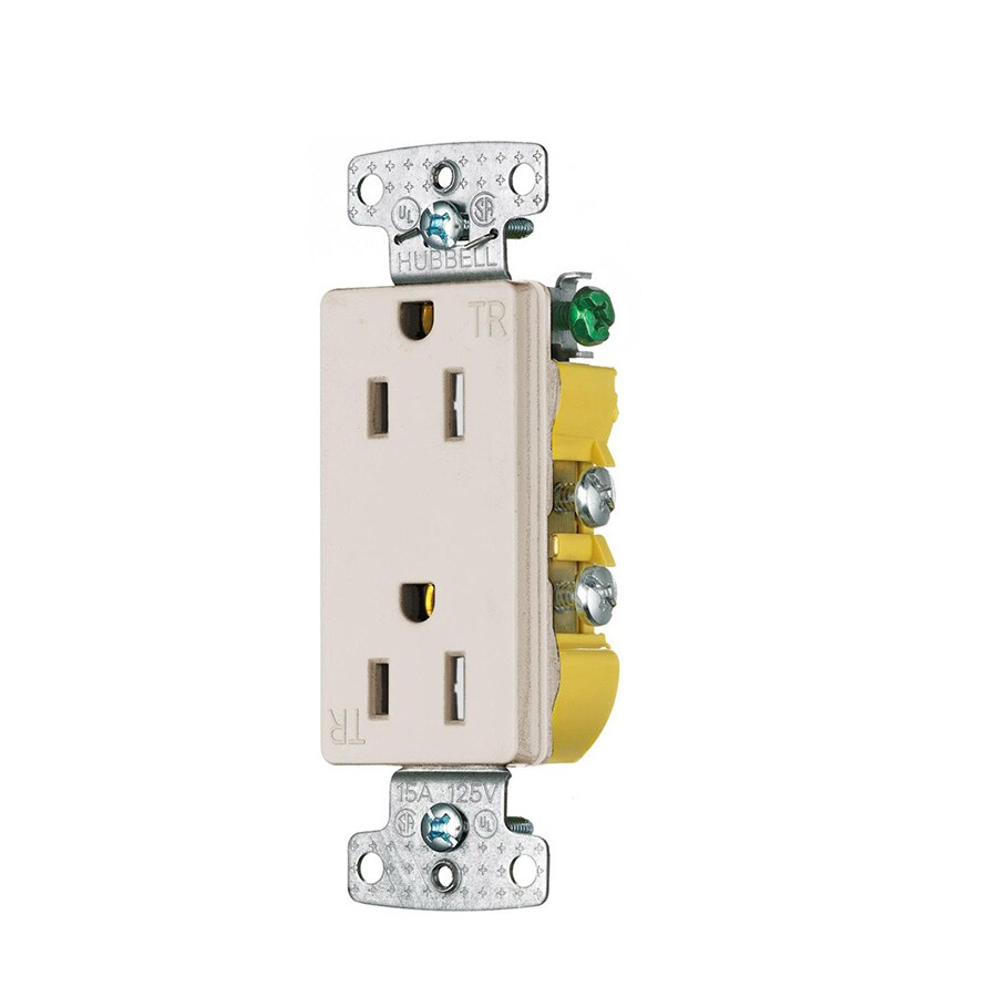 Wall Pack Lights Lowes : Shop Hubbell 10-Pack 15-Amp 125-Volt Light almond Indoor Decorator Wall Tamper Resistant Outlet ...