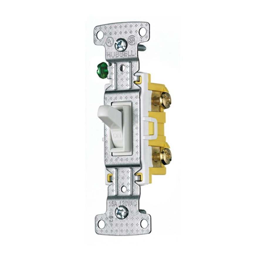 Hubbell 15-amp Single-pole White Framed Toggle Light Switch