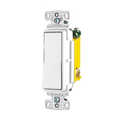 X-Clamp 15-amp 3-way White Rocker Residential/Commercial Light Switch on leviton 3 way switch, pass & seymour 3 way switch, bridgeport 3 way switch, eagle 3 way switch, lutron 3 way switch, changing 3-way light switch, cooper 3 way switch, legrand 3 way switch,