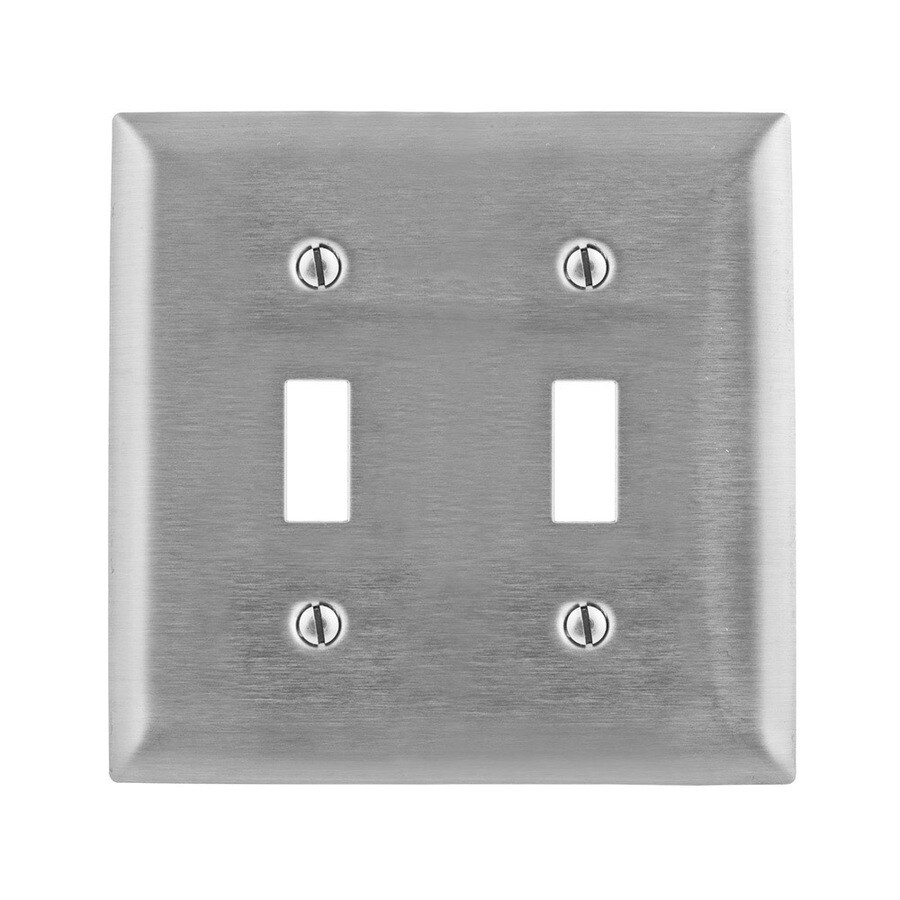 Hubbell 2-Gang Stainless Steel Wall Plate