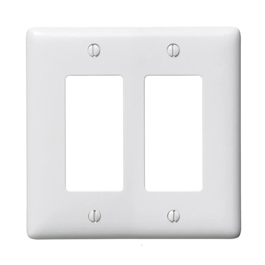 Hubbell 2-Gang White Double Decorator Wall Plate