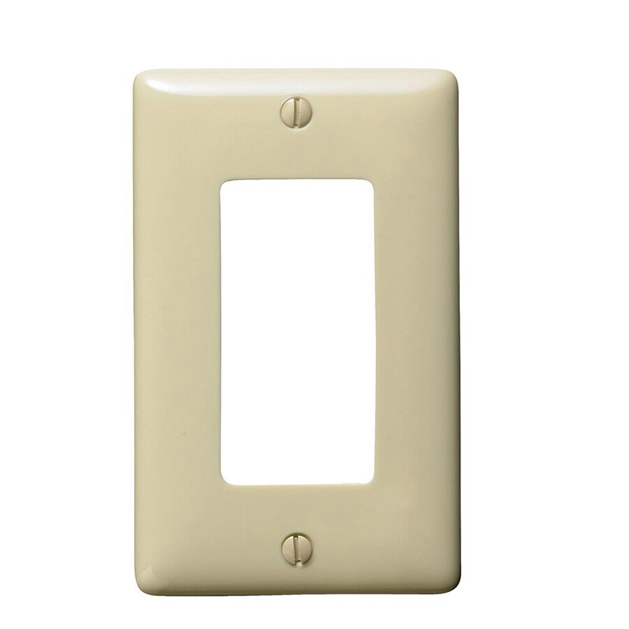 Hubbell 10-Pack 1-Gang Ivory Single Decorator Wall Plates
