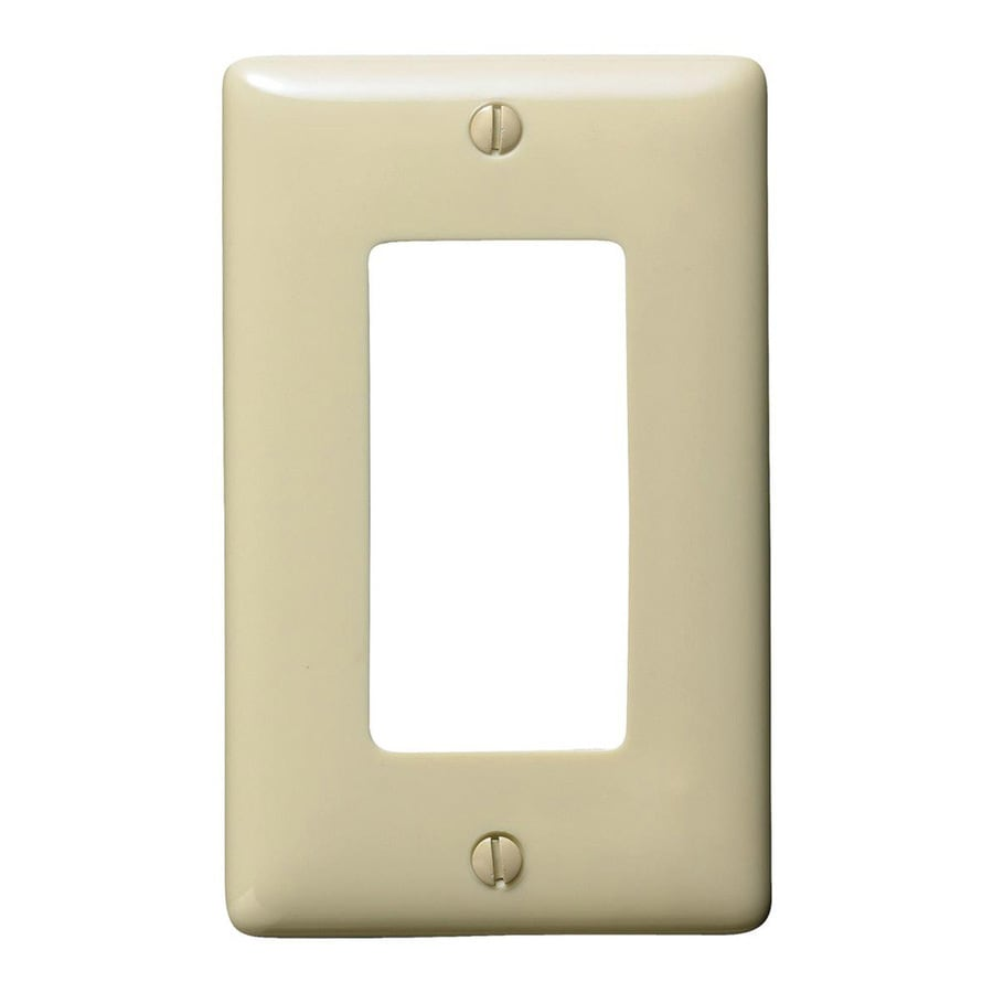 Hubbell 1-Gang Ivory Single Decorator Wall Plate