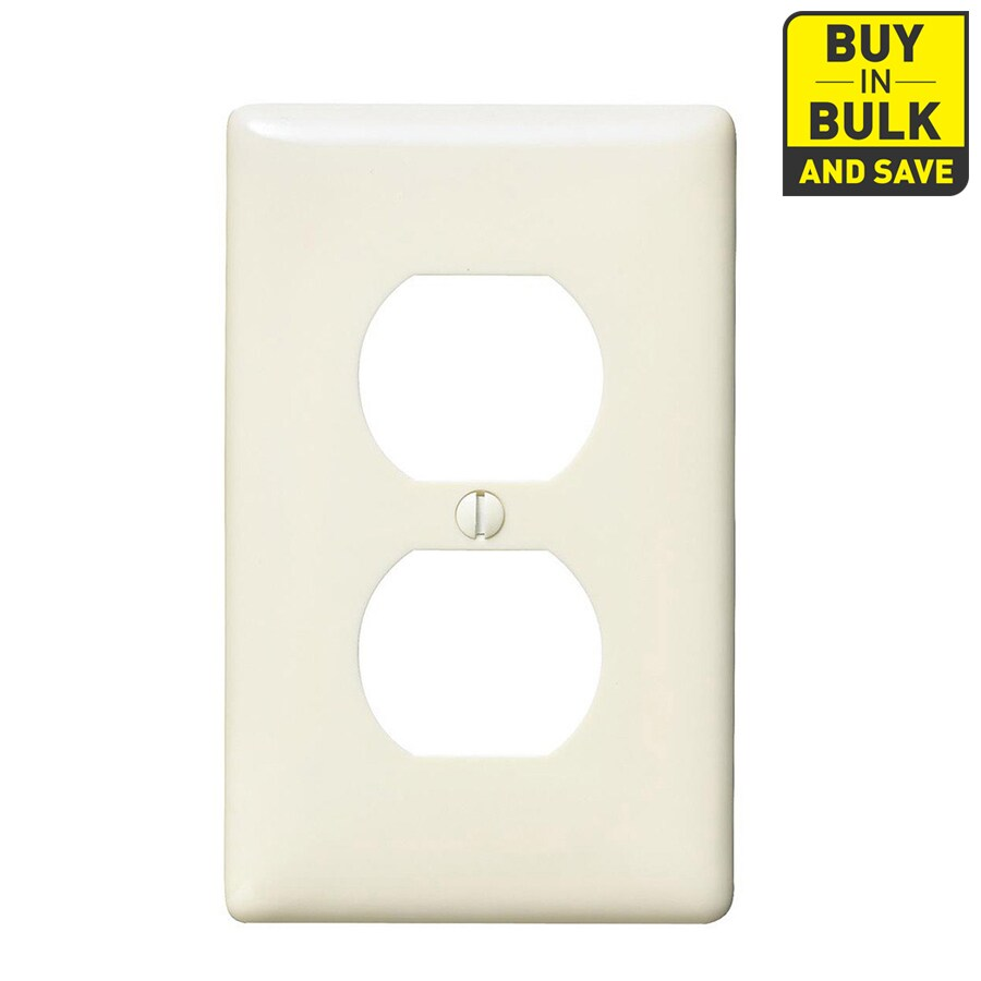 Hubbell 10-Pack 1-Gang Light Almond Single Duplex Wall Plates