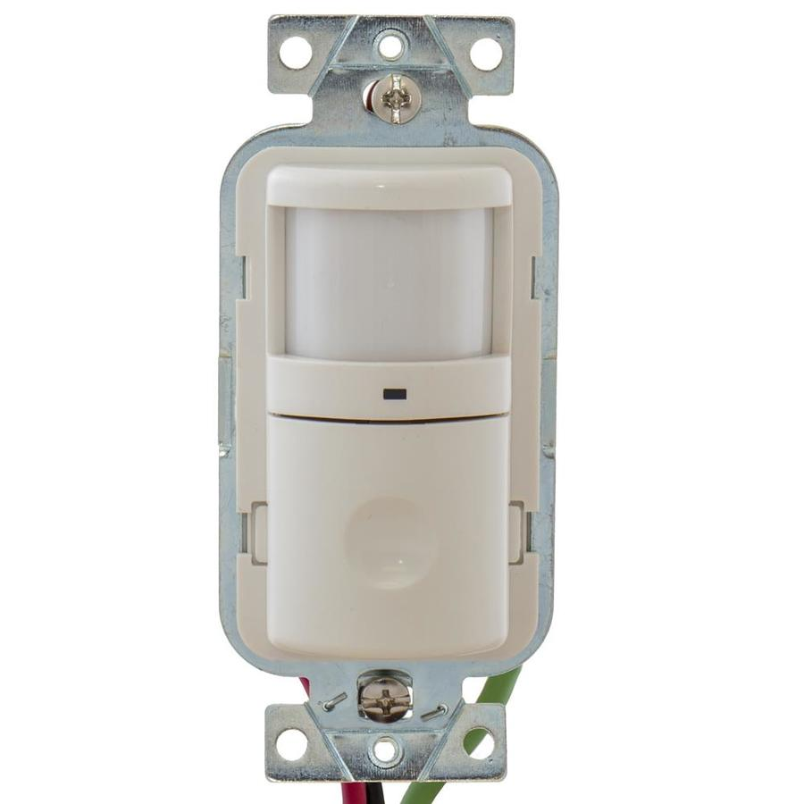 Shop Hubbell Single Pole White Motion Occupancy Sensor At