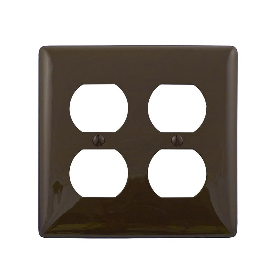Hubbell 2-Gang Brown Double Duplex Wall Plate