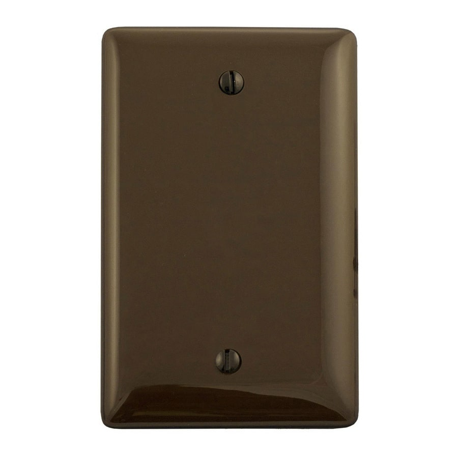 Hubbell 1-Gang Brown Single Blank Wall Plate