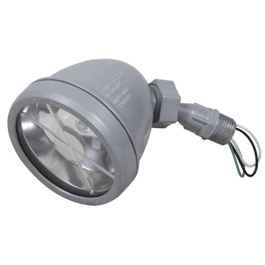 Hubbell TayMac 4.6-in 1-Head Halogen Gray Switch-Controlled Flood Light