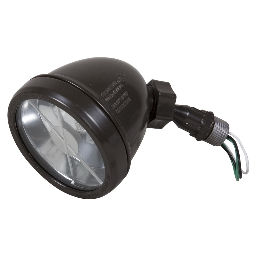 Hubbell TayMac 3.3-in 1-Head Halogen Bronze Switch-Controlled Flood Light