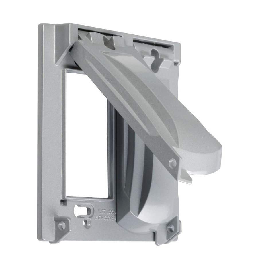 Hubbell TayMac 2-Gang Square Metal Weatherproof Electrical Box Cover