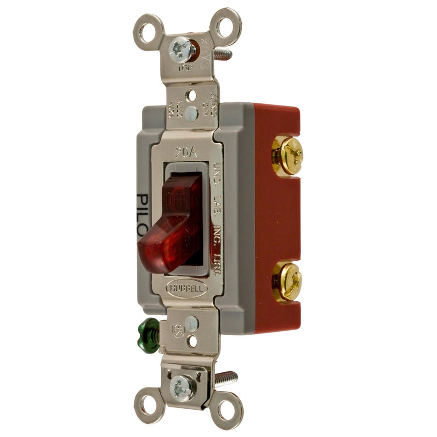 Hubbell 15/20-amp Single Pole Red Toggle Indoor Light Switch
