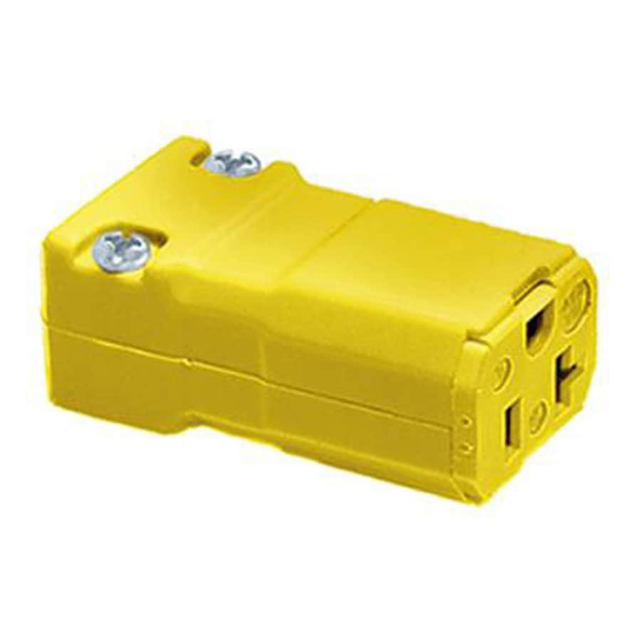 Hubbell 20-Amp 125-Volt Yellow 3-Wire Grounding Connector